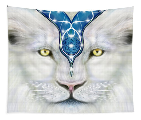Sacred White Lion - Tapestry