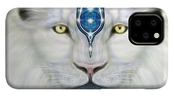 Sacred White Lion - Phone Case