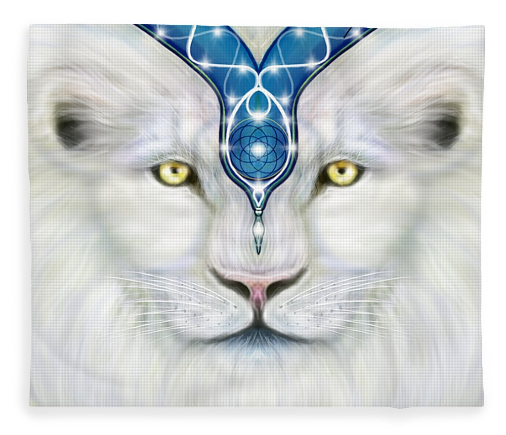 Sacred White Lion - Blanket