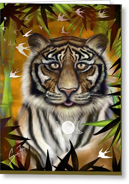 Tiger Wisdom - Greeting Card