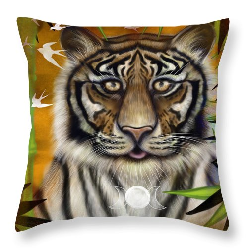 Tiger Wisdom - Throw Pillow
