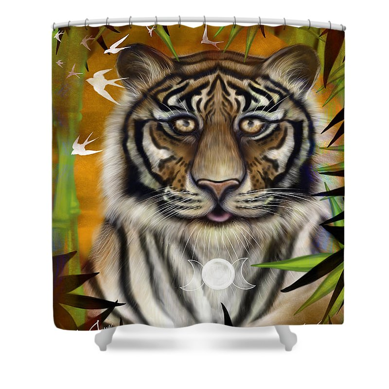 Tiger Wisdom - Shower Curtain