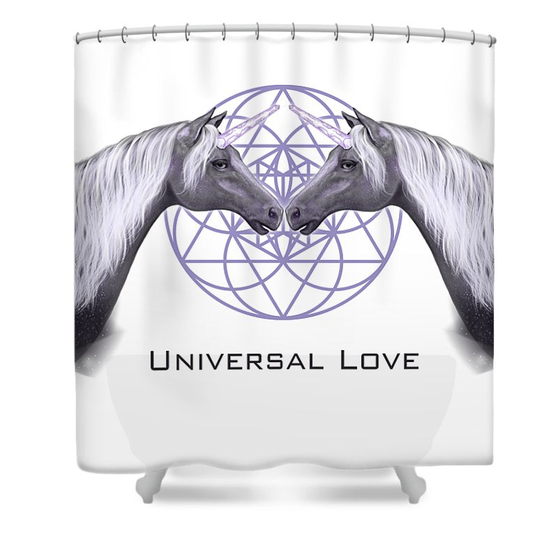 Universal Love Unicorns - Shower Curtain