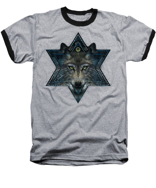 Wolf Star - Baseball T-Shirt