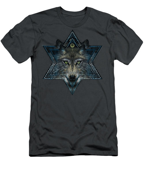 Wolf Star - Men's T-Shirt (Athletic Fit)