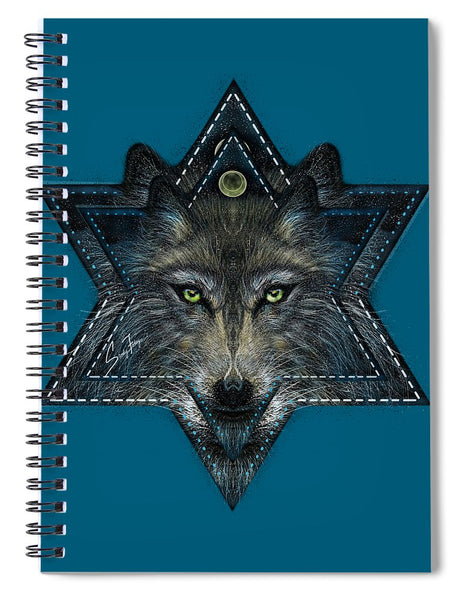 Wolf Star - Spiral Notebook