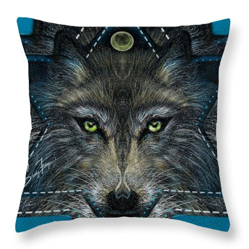 Wolf Star - Throw Pillow