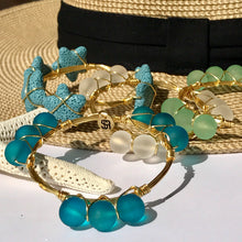 """Hatteras Marina"" Sea Glass Bangle Bracelet"