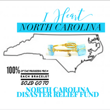 """I Heart North Carolina"" Bangle Bracelet"
