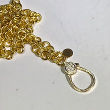 """Pavé Bell"" Gold Chain Necklace"