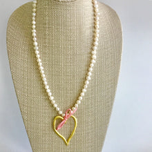 """Sweet Pink and Baby Blue"" Freshwater Pearl Necklace"