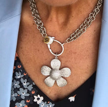 """Keep Blooming"" Pavé Flower Necklace"
