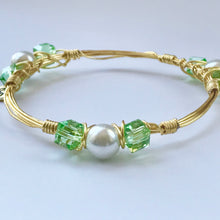 """Parakeet Pearl"" Bangle Bracelet"