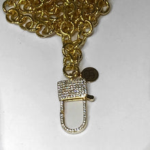 """Parisian Love Lock"" Gold Chain Necklace"