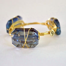 """Blue Velvet"" Crystal Bangle Bracelet"