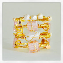 """Rosé All Day"" Murano Glass Bangle Bracelet"