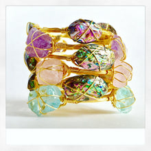 "SASSIELUXE ""Aqua Quartz"" Bangle Bracelet"