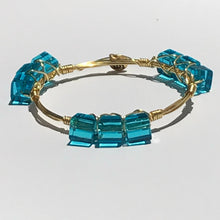 """Capri Cubes"" Bangle Bracelet"