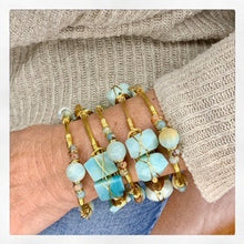"""Hope"" Amazonite Bangle Bracelet"