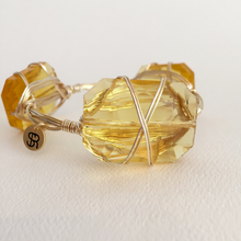"""Amber Chardonnay"" Crystal Bangle Bracelet"