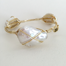 """Taffy"" Pearl Bangle Bracelet"