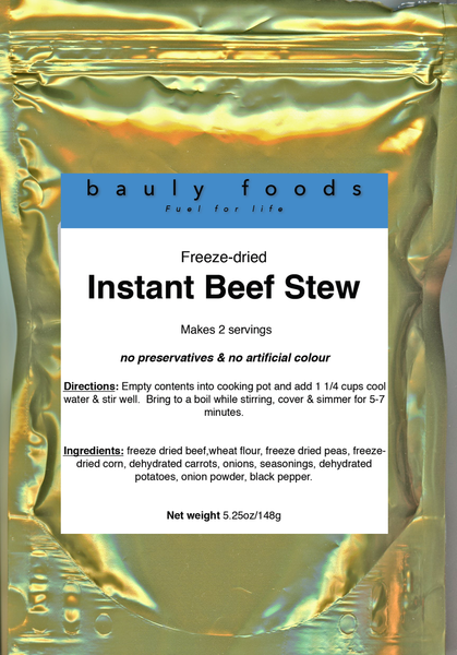 Quick Cook Beef Stew (2 servings in convenient re-sealable pouch)