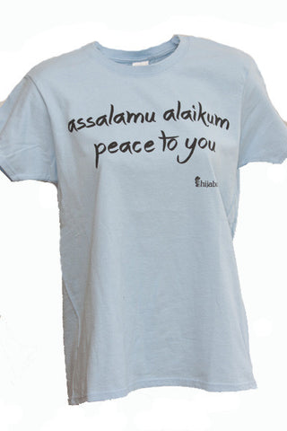 "Ladies ""Assalamu alaikum - Peace To You"" Short Sleeve Shirt"