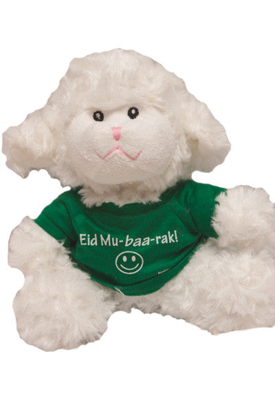 "9"" Eid Mubarak! (Mu-baa-rak) Stuffed Lamb With T-Shirt"