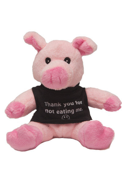 "5"" ""Thank You For Not Eating Me"" Stuffed Pig With T-Shirt"