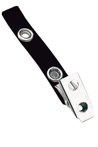 "2 Hole Clip W/ Coloured 2 3/4"" Strap - Black (100/Pk)"