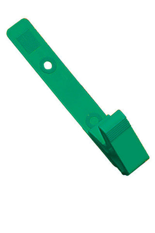 "Strap Clip, Green, 3 1/8"" (79Mm), Plastic Knurled Thumb-Grip W/Delrin Strap (100/Pk)"