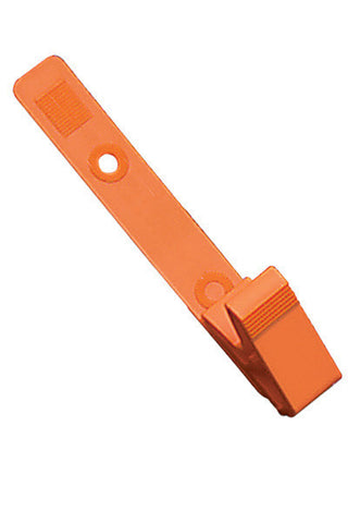 "Strap Clip, Orange, 3 1/8"" (79Mm), Plastic Knurled Thumb-Grip W/Delrin Strap (100/Pk)"