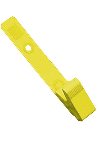 "Strap Clip, Yellow, 3 1/8"" (79Mm),  Plastic  Knurled Thumb-Grip W/Delrin Strap (100/Pk)"