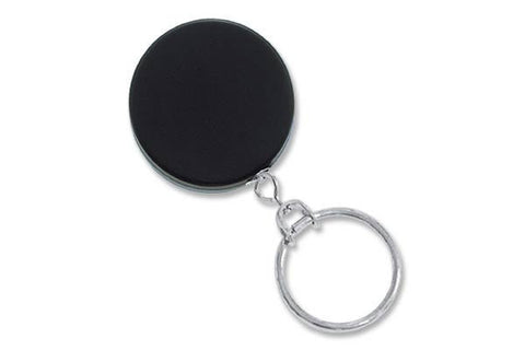 "Heavy-Duty Badge Reel, Black /Chrome, 1-1/2"" (38Mm) W/Link Chain & Nps Split Ring, W/Slide-Type Belt Clip (25/Pk)"