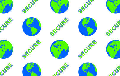 "IDP Hologram patch type laminate film, 1mil(25mic) ""Secure Globe"",250 images/roll"