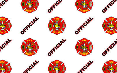 "IDP Hologram patch type laminate film, 1mil(25mic) ""Offical Fire/Rescue"",250 images/roll"
