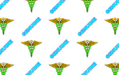 "IDP Hologram patch type laminate film, 1mil(25mic) ""Genuine Medical"",250 images/roll"