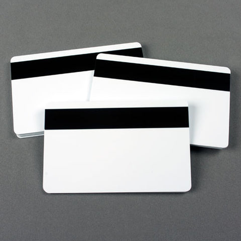 Fusion CR80 30 mil Blank Cards with HiCO Magnetic Stripe (100/pk)