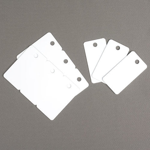 Thermatek™ CR80 30 mil Triple Key Tag Blanks (Hole-punched) (100/pk)