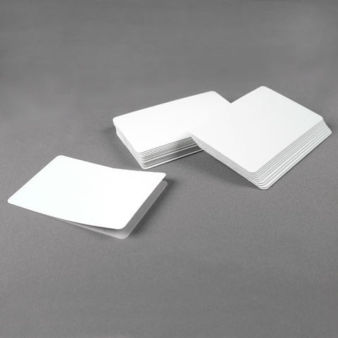 Thermatek䋢 Adhesive Backed Cards CR80, 14 mil Blanks with Paper Backing (100/pk)
