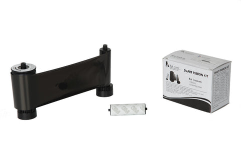 IDP Smart 30/50 SIADC-P-K Resin Black ribbon with cleaning roller, 1200 cards/roll