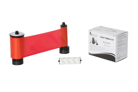 IDP Smart 30/50 SIADC-P-R Resin red ribbon with the disposable cleaning roller, 1200 cards/roll