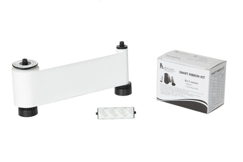 IDP Smart 30/50 SIADC-P-W Resin white ribbon with the disposable cleaning roller, 1200 cards/roll