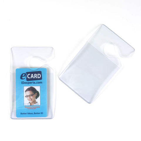 "Rigid Vinyl Hang Tag, Clear, 2.63"" X 3"" Vertical (50/pk)"