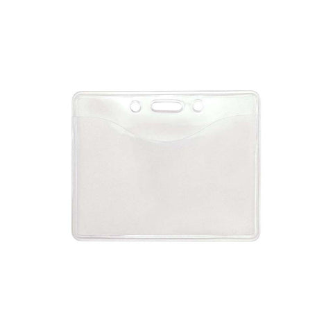 Vinyl Anti-Transfer Badge Holder, Clear Cr80 Horizontal (100/Pk)