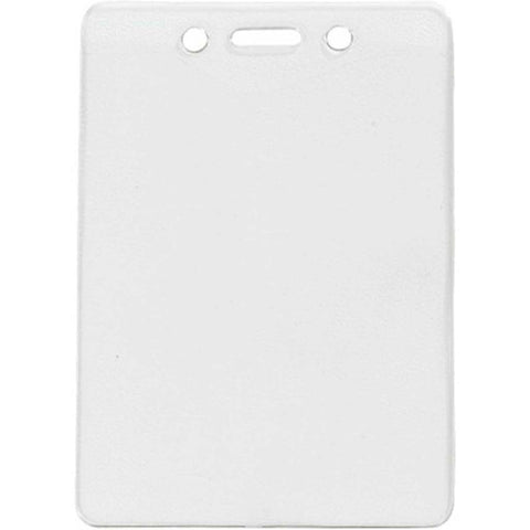 "Vinyl Event Badge Holder, Clear, 3"" X 4"" Vertical (100/Pk)"