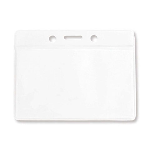 Vinyl Badge Holder, Clear, Cr80 Horizontal (100/Pk)