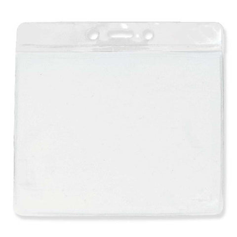 "Vinyl Extra Large Badge Holder, Clear 3.5"" X 4.3"" Horizontal (100/Pk)"