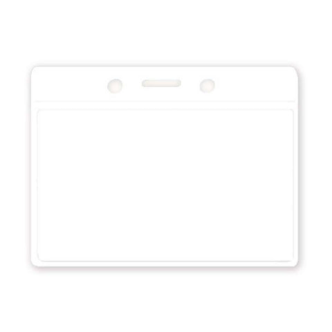 Coloured Vinyl Badge Holder, Clear, White Back, Cr80 Horizontal (100/Pk)