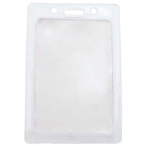 Vinyl Badge Holder W/White Coloured Frame, Cr80 Vertical (100/Pk)